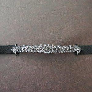 BCBGMaxAzria | Black Chain Waist Diamond C Belt